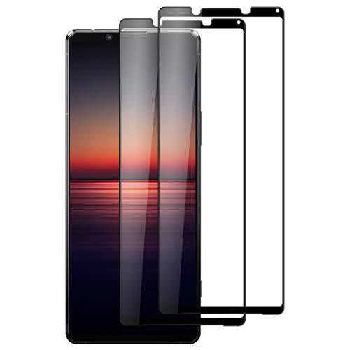 Foluu [2-Pack Sony Xperia 1 II Screen Protector, Tempered Glass [Full Adhesive][Full Coverage] [Bubble-Free] [Anti Scratch] HD Clear High Responsive for Sony Xperia 1 II Release