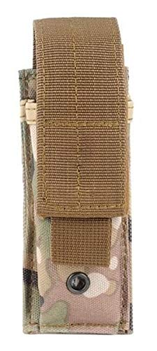 AccessoryHappy Premium Outdoor Hunting Tactical Holster Fast Mag Pouch MOLE System fits Single Pistol Magazine, Knife, Flashlight, Sheath, Airsoft Hunting Ammo and Much More (Desert Camo)