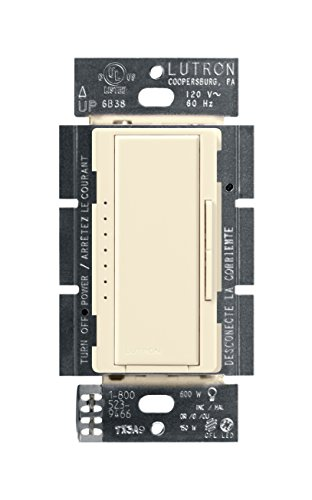 Lutron Maestro C.L Dimmer Switch for Dimmable LED, Halogen and Incandescent Bulbs, Single-Pole or Multi-Location, MACL-153M-LA, Light Almond