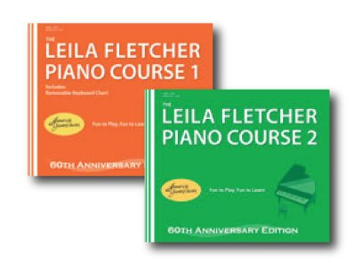 Leila Fletcher Piano Course Book 1 and Book 2 - Fletcher Piano