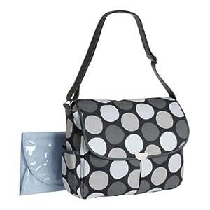 carter 39 s big dot canvas messenger gray diaper tote bags baby. Black Bedroom Furniture Sets. Home Design Ideas