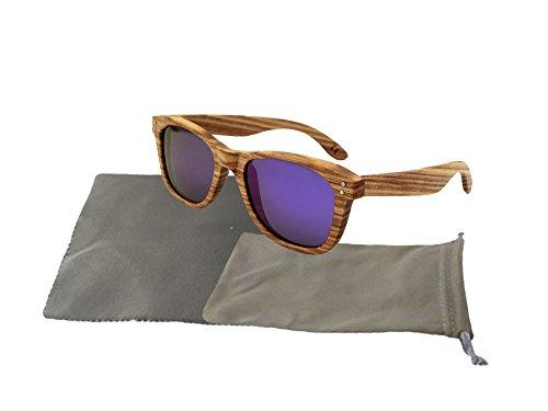 Askana Polarized Zebra Wood Wooden Mens Womens Sunglasses - Sale For Good Wood Sunglasses