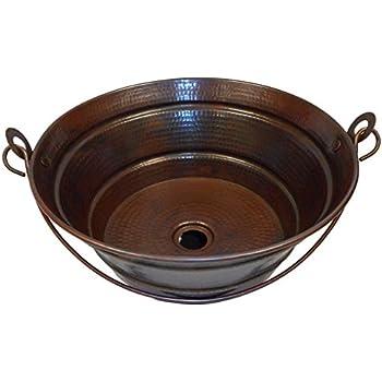 rustic copper kitchen sink simplycopper 15 rustic round copper bucket vessel bath sink