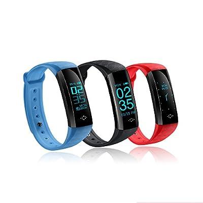 WearPai Fitness Tracker Bluetooth Smart Watch Heart Rate Monitor Smart Bracelet Waterproof Pedometer Sport Activity Tracker for Android iOS