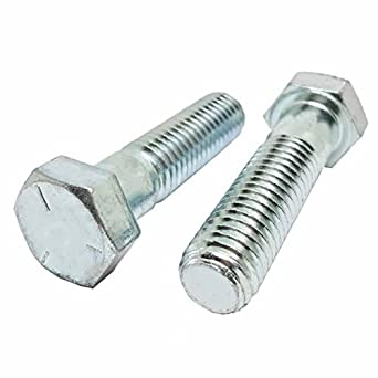 1.25 in Length Fastener Sturdy with Steel Construction and Zinc Finish Fully Threaded 25 Pack 13 Thread Pitch Coarse Corrosion Resistant 1//2-13 x 1-1//4 Grade 5 Cap Screw Hex Bolts