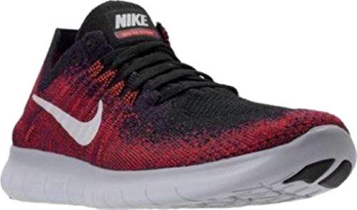 Nike Libre Rn Flyknit Mtlc (gs) Noir / Total Cramoisi / Université Rouge / Pur Platine