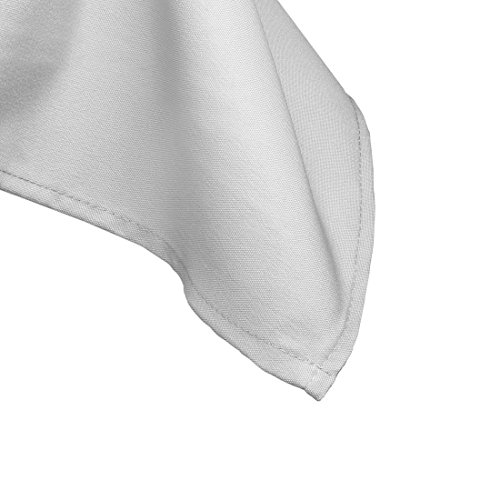 Gee Di Moda Rectangle Tablecloth - 60 x 102'' Inch - White Rectangular Table Cloth for 6 Foot Table in Washable Polyester - Great for Buffet Table, Parties, Holiday Dinner, Wedding & More by Gee Di Moda (Image #3)