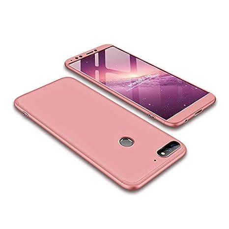 Funda Huawei Y7 Prime(2018) Carcasa Huawei Y7 Prime(2018)[Protector de Pantalla de Vidrio Templado]3 en 1 Desmontable Anti-Arañazos Huawei Y7 ...