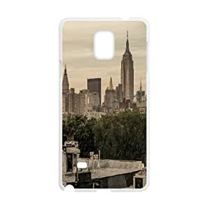 {Funny Series} Samsung Galaxy Note 4 Case New York City East Village, Hipster Design Case Okaycosama - White