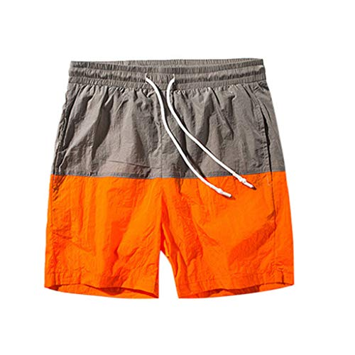 Men's Quick Dry Swimming Trunks Bathing Suit Shorts Striped Color Block ()
