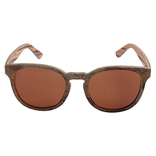 de Protección sol gato Conducción Marrón Gu Lens Sunglasses gafas a Vintage mano hechos Peggy Gafas de piedra Polarized de de hombres TAC Beach sol para UV Color madera y Marrón Ojos de q8Wxw1F