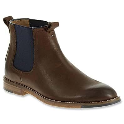 Hush Puppies Men's Thor Hamlin Chelsea Boot, Dark Brown, 8 M US