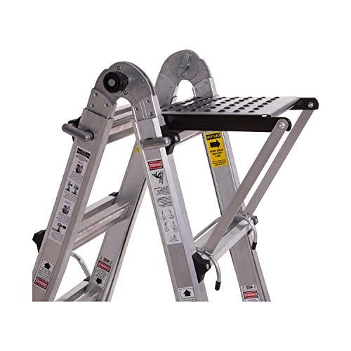 ORIENTOOLS Ladder Work Platform, Ladder Accessory with 375-Pound - Accessories Stairs