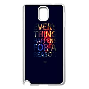Samsung Galaxy Note 3 Cell Phone Case White Everything Happens For A Reason BNY_6742729