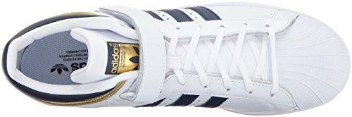 Maglia Da Uomo Adidas Original Pro Sneaker Bianca / Blu Scuro / Oro Metallizzato