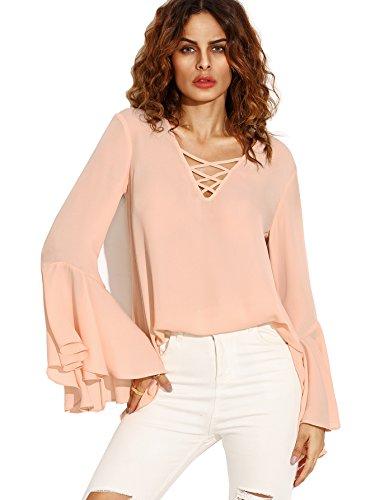 Buy bell sleeve dress pink - 4