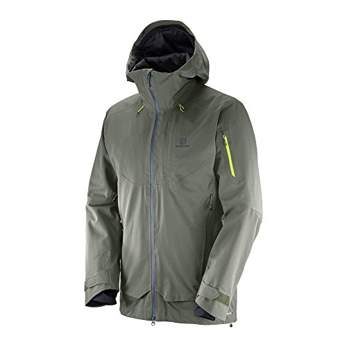 (Salomon Men's QST Guard Jacket, Beluga, Medium)