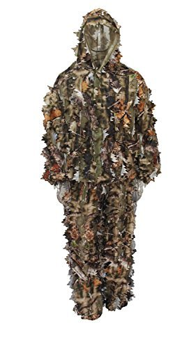 Ultra Light Camouflage Jacket Pants Leafy Ghillie Hunting Suit Large