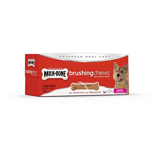 Milk-Bone Brushing Chews Daily Dental Treats - Mini, 5.5 Ounce - 14 Bones (Milk Bone Brushing Chews Bad For Dogs)