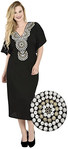 La Leela rayonne douce robe chemise caftan plage poncho femmes CoverUplus noir
