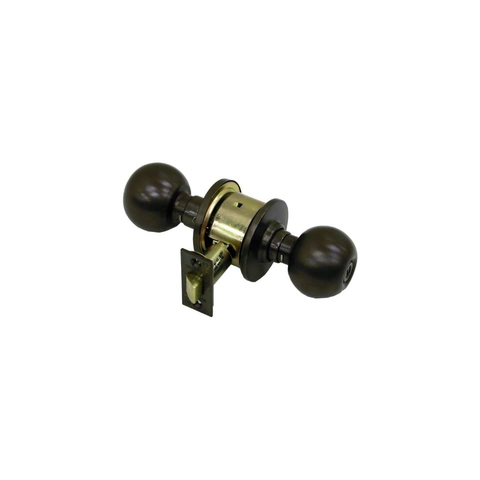 Schlage A40S ORB 613 Series A Grade 2 Cylindrical Lock, Privacy Function, Keyless, Orbit Design, Oil Rubbed Bronze Finish