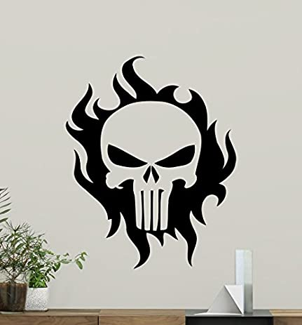 Punisher Skull Wall Vinyl Decal Marvel Superhero Wall Sticker Video Game  Gaming Wall Decor Cool Wall