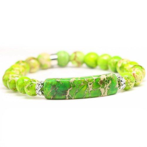 Green Jasper Bracelet (Handmade Gemstone Bange 7.2