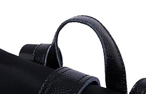 Bolsa De Las Mujeres Bolsa De Hombro Bolsos De Moda Versión Coreana De La Mochila De Tela De Oxford Black