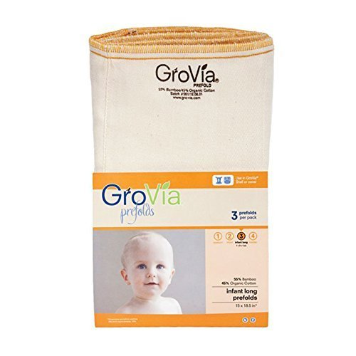 GroVia Prefold Cloth Diaper (Size 3)