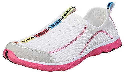 Zhuanglin Women's Quick Drying Aqua Water Shoes Size 6 B(M) US White,White,6...