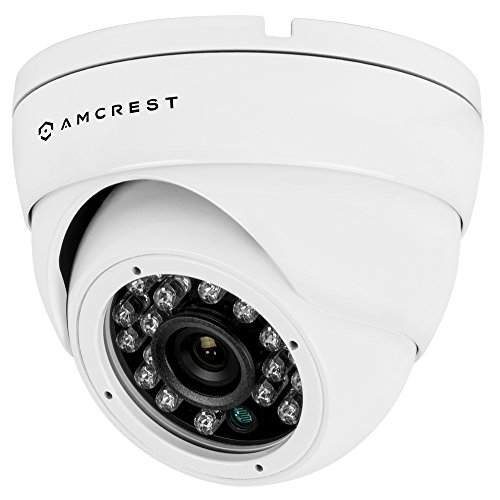 Amcrest AMC960HDC36-W 800+ TVL Dome Weatherproof IP66 Camera with 65′ IR LED Night Vision (White),Power supply and coaxial video cable are not included