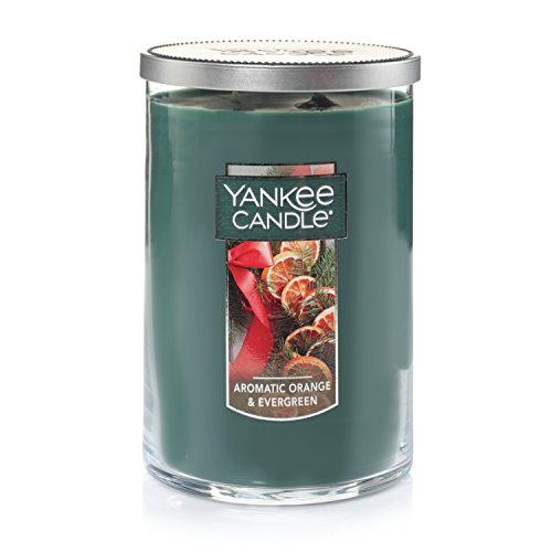 - Yankee Candle Large 2-Wick Tumbler Candle, Aromatic Orange & Evergreen