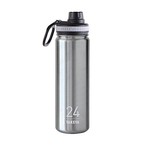 24 Ounce Insulated Water (Takeya ThermoFlask Insulated Stainless Steel Water Bottle, 24 oz,)