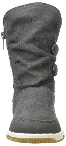 Kappa Mädchen Cream Kids Combat Boots Grau (1337 Anthra/Mint)