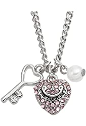 Juicy Couture Key & Pink Heart Necklace