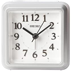 Seiko QHE090SLH Bedside Alarm Collection Clock