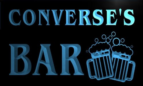 w007264-b CONVERSE'S Name Home Bar Pub Beer Mugs Cheers Neon Light Sign -