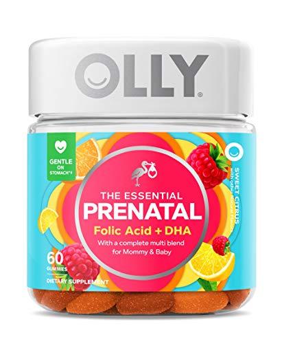 OLLY Prenatal Multivitamin Gummy, Supports Healthy Growth and Brain Development, Folic Acid, Vitamin D, Omega 3 DHA…