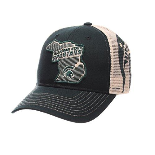 NCAA Michigan State Spartans Men's Interstate Trucker Cap, Adjustable, Forest Green