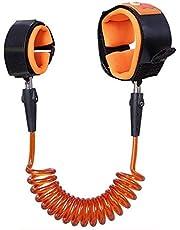 حبل ربط للمعصم مضاد للضياع لسلامة الاطفال اثناء المشي بطول 150 سم لون برتقالي