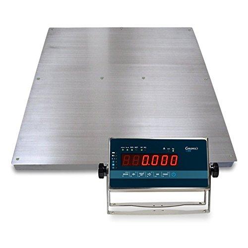 Báscula VERIFICADA en acero inox. Baxtran BGI 1500 (1500Kgx500g) (150x150cm): Amazon.es: Bricolaje y herramientas