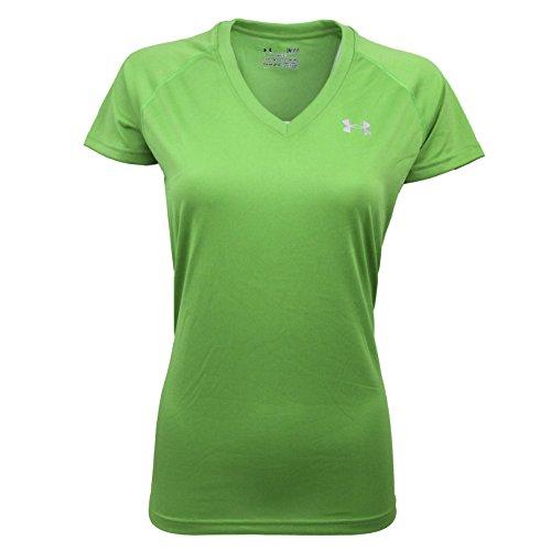 Under Armour Women's UA Tech V-Neck T-Shirt Envy Green/Steel XS