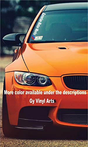 Gy Vinyl Arts Bavarian Motor Works Windshield Decal Bumper Sticker Banners Compatible BMW (2.3