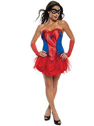 Secret Wishes Women's Marvel Universe Secret Wishes Spider-Girl Costume Tutu Dress and Mask, Multicolor, Medium
