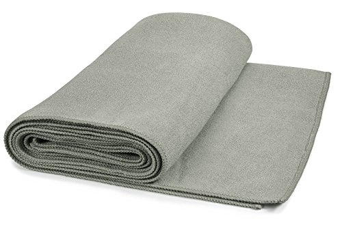 """Hot Yoga Mat Towel Non-Slip , Extra-Absorbent Microfiber Anti-bacterial Skidless Bikram Towels Cover for Exercise Workout, Fitness and Pilates or Beach Picnic Towel (24"""" x 72"""")"""