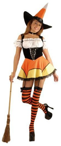 Candy Corn Witch Adult Costume - X-Small -