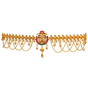 Preyans From Jaipur Mart Kamarband Belly-Chain Tagdi for Women(Golden) (KMBND301MG)