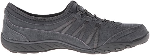 Easy Charcoal Sneaker nbsp;Relaxation Suede Breathe Skechers Donna 0qXtnwx5