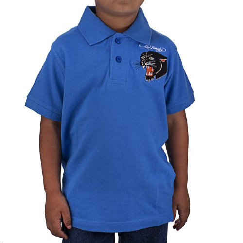 Ed Hardy Little Boys' Panther Polo Shirt - Cobalt - 6/7 Ed Hardy Baby Clothes