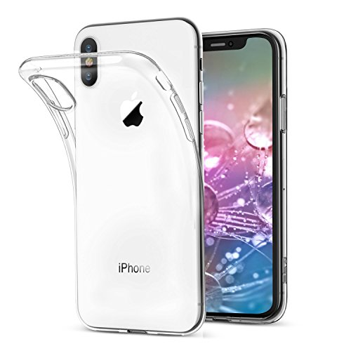 DUZHI iPhone X Case, iPhone X Clear Case,Apple iPhone X Cover, Slim Soft TPU Case for Apple iPhone X/iPhone 10 (2017 Release)-Crystal Clear